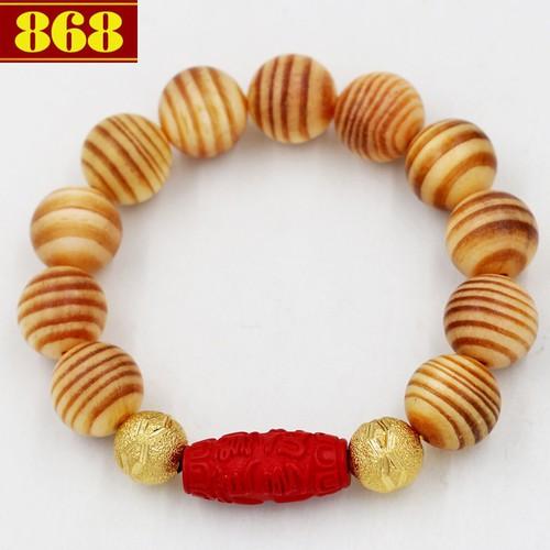 Vòng tay gỗ huyết rồng 18 ly A521