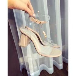 Giày Sandal Cao Gót Quai Trong Đẹp