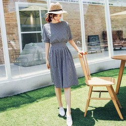 Đầm Xòe Vintage Caro Nhí