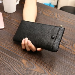 ví da cầm tay có ngăn để điện thoại ngoài - ví da