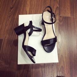 Giày sandal cao gót da rắn