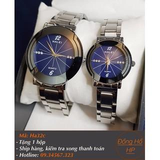 [VIDEO] Đồng hồ đôi Halei dây bạc - Giá 1 cặp - 7019 thumbnail