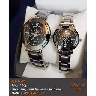 [VIDEO] Đồng hồ đôi Halei dây bạc - Giá 1 cặp - 7018 thumbnail