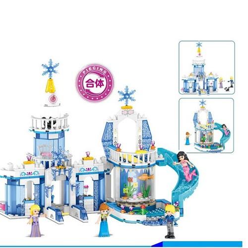 Đồ chơi lắp ráp xây dựng Tòa lâu đài Fantasy Snow King