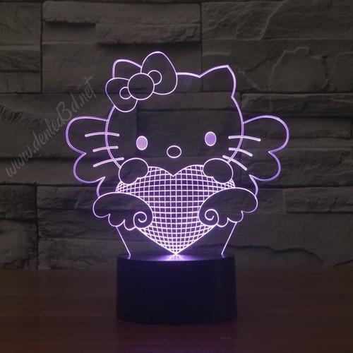 Đèn led 3D | Đèn ngủ 3D Hello kitty