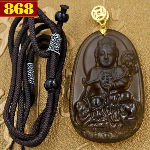 Dây chuyền Phật bản mệnh Phổ Hiền Bồ Tát 5 cm nâu
