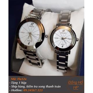 [VIDEO] Đồng hồ đôi Halei dây bạc - 7017 thumbnail