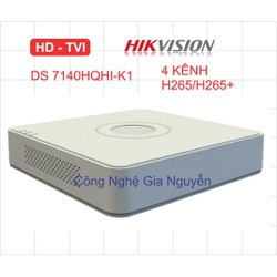 Đầu ghi Camera HD Hikvision 4 kênh DS-7104HQHI-K1 chuẩn H.265+