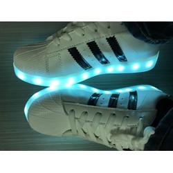 Giày phát sáng mẫu adidas, led 7 màu cực đẹp và thời trang cho Nam Nữ