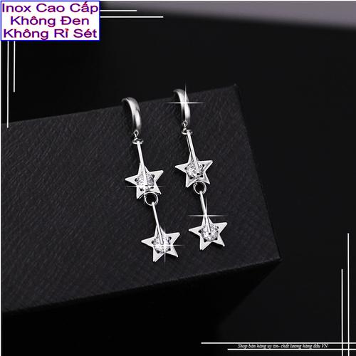 Bông tai inox Đẹp Mà Rẻ kiểu tòn ten ngôi sao đính đá Zircon 2 tầng - 5414367 , 9053768 , 15_9053768 , 49000 , Bong-tai-inox-Dep-Ma-Re-kieu-ton-ten-ngoi-sao-dinh-da-Zircon-2-tang-15_9053768 , sendo.vn , Bông tai inox Đẹp Mà Rẻ kiểu tòn ten ngôi sao đính đá Zircon 2 tầng