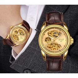 Đồng hồ nam máy cơ Bosck Automatic dây da - Vàng