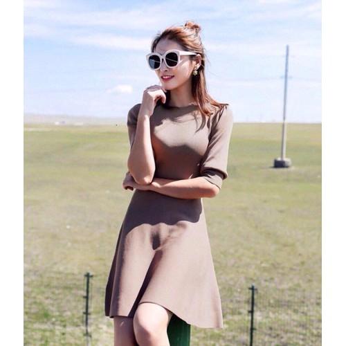 Đầm thun váy chữ A tay lở Hàn Quốc