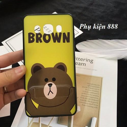 Ốp lưng cứng Samsung Galaxy j5 2016 gấu Brown có chống lưng