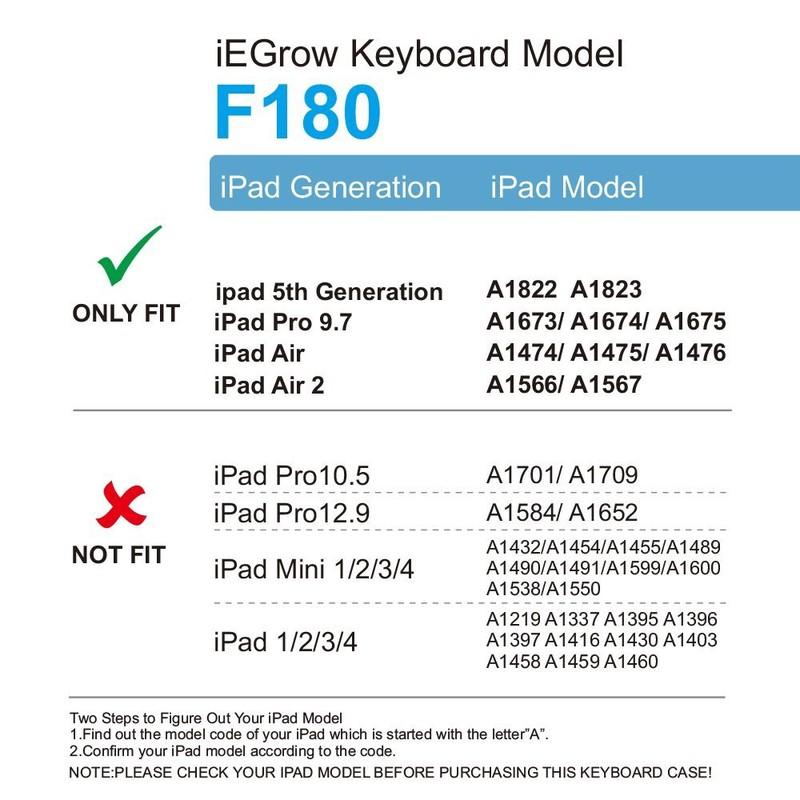 Bàn Phím Bluetooth iPad 9.7 inch Ốp Lưng xoay 360° Đèn LED PKCB180 21