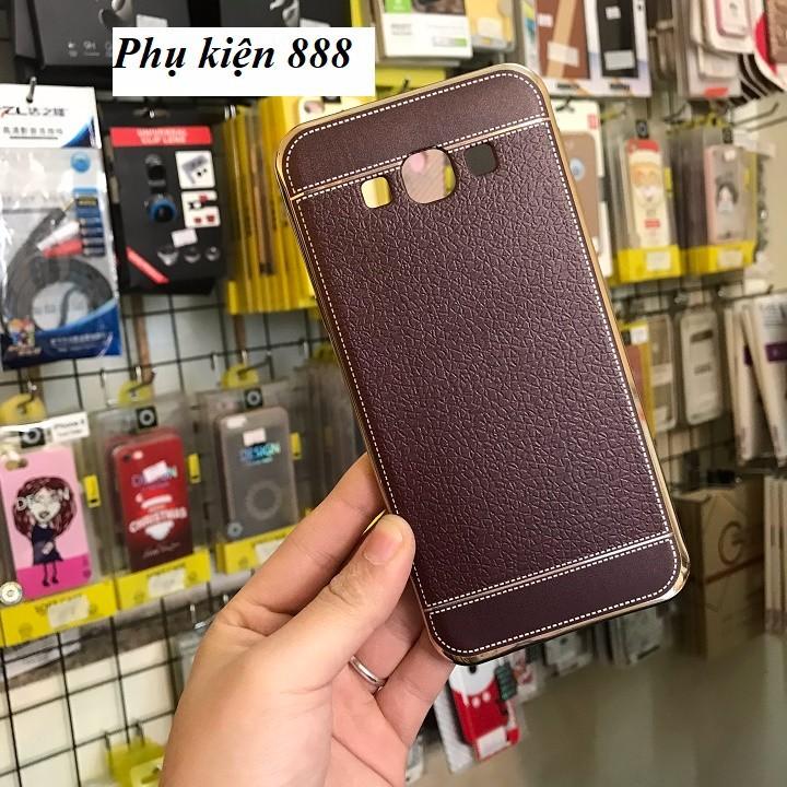 Ốp lưng silicon Samsung Galaxy A8 2016 giả da hiệu Fashion Case 5