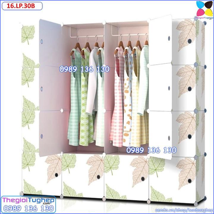 Tủ quần áo nhựa lắp ráp ghép thông minh đa năng 12 ô giá rẻ lá phong 7