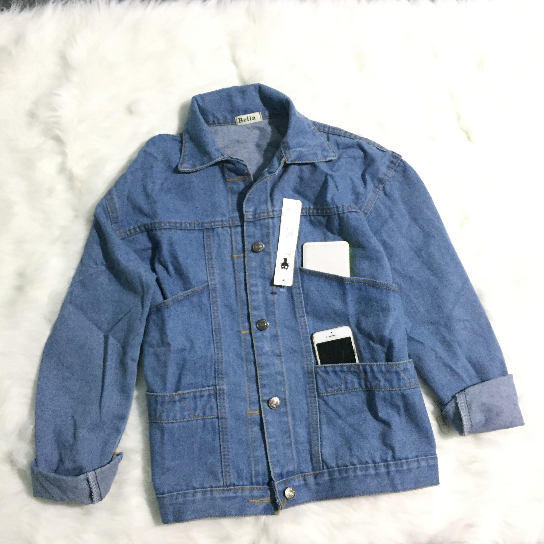Áo Khoác Jeans Nữ Thời Trang OHS523