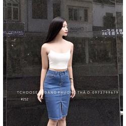 Chân váy bò nữ thời trang