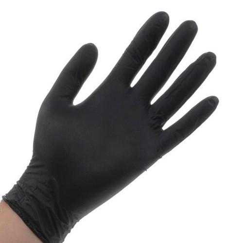 găng tay y tế màu đen