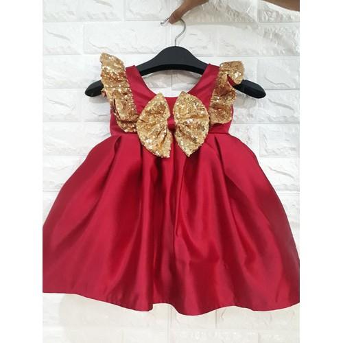Đầm Đỏ Công Chúa Kim Sa Cao Cấp Giá Rẻ