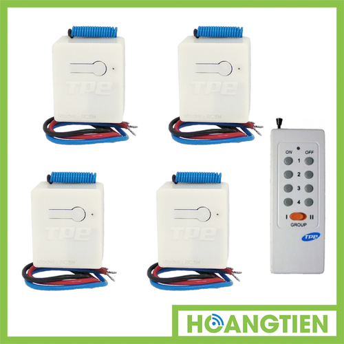 Bộ 4 công tắc điều khiển từ xa sóng RF TPE RC5H + Remote 16 nút RM01 - 5419454 , 9062658 , 15_9062658 , 490000 , Bo-4-cong-tac-dieu-khien-tu-xa-song-RF-TPE-RC5H-Remote-16-nut-RM01-15_9062658 , sendo.vn , Bộ 4 công tắc điều khiển từ xa sóng RF TPE RC5H + Remote 16 nút RM01