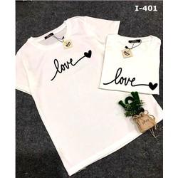 Áo thun cặp trắng đơn giản in chữ Love
