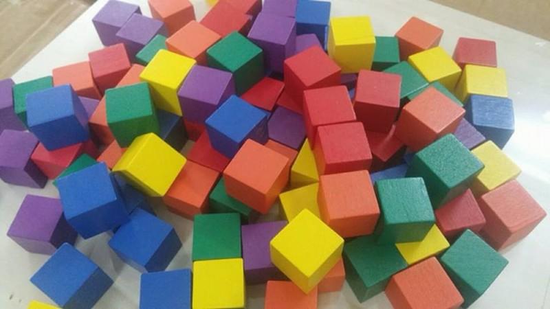 Đồ chơi gỗ trí tuệ - Bộ 100 khối lập phương CUBE 2cm 4