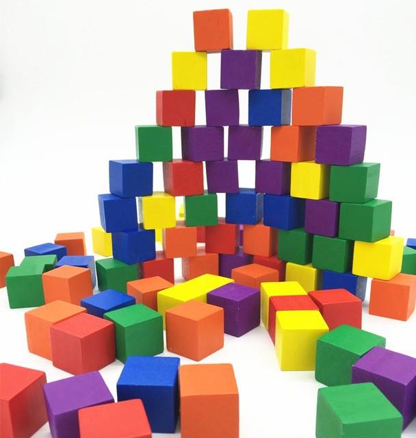 Đồ chơi gỗ trí tuệ - Bộ 100 khối lập phương CUBE 2cm 2