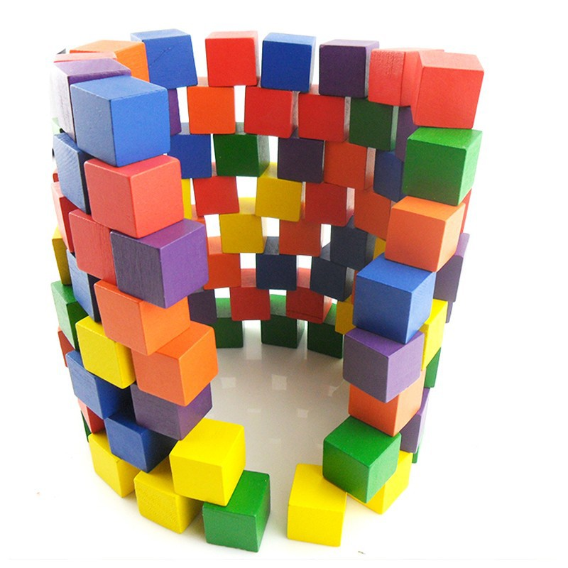 Đồ chơi gỗ trí tuệ - Bộ 100 khối lập phương CUBE 2cm 3