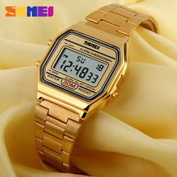 Đồng hồ điện tử SKMEI dây vỏ kim loại mạ màu - 3 màu - Mã số: DH1823