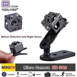 Camera mini siêu nhỏ SQ8 FULL HD 1080P - Đèn hồng ngoại