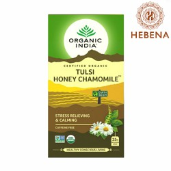 Trà tulsi hoa cúc Organic India Tulsi Honey Chamomile - hebenastore