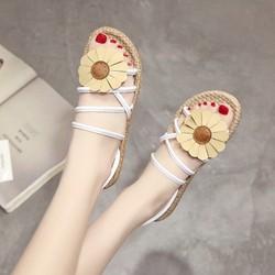Giày Sandal Nữ đính hoa dạo biển - XS0488