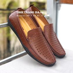 Giày lười da thật đục lỗ thoáng khí GL122 cung cấp bởi THỜI TRANG DA