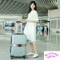 Dây khóa Vali kèm thẻ hành lý, khóa hành lý chống trộm, khóa số