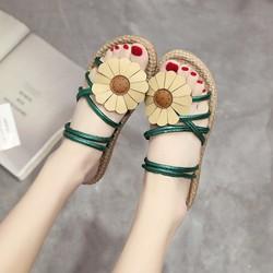 Giày Sandal Nữ đính hoa dạo biển - XS0489