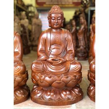 tượng phật adida gỗ hương đỏ nguyên khối cao 50 cm - TADD ...