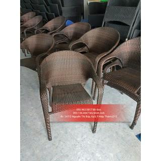 Bộ bàn ghế cafe giả mây giá thanh lý [ĐƯỢC KIỂM HÀNG] 9091557 - 9091557 thumbnail