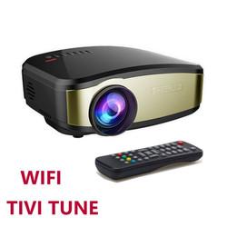 Máy chiếu mini HD CHEERLUX C6 Home Theater, WIFI, Tivi Tuner