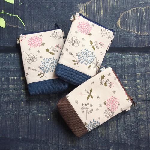 PB94 - Lila Túi Đựng Điện Thoại Handmade Họa Tiết Hoa Cỏ