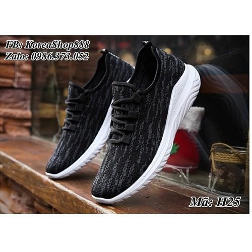 Giày Sneaker nam kiểu dáng Hàn Quốc mã H25 - 5434537 , 9092032 , 15_9092032 , 199000 , Giay-Sneaker-nam-kieu-dang-Han-Quoc-ma-H25-15_9092032 , sendo.vn , Giày Sneaker nam kiểu dáng Hàn Quốc mã H25