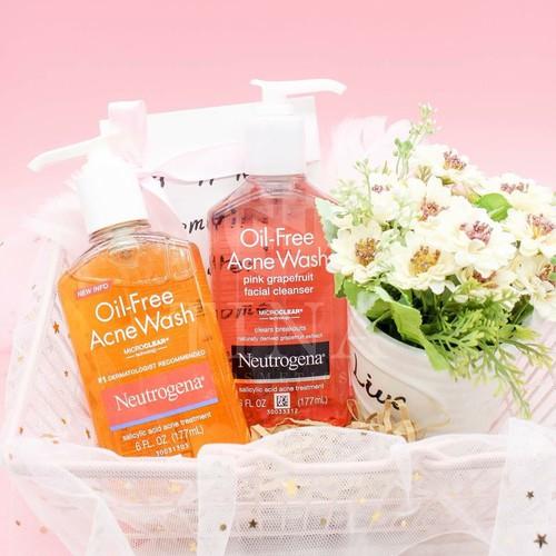 Sữa Rửa Mặt Dạng Gel Neutrogena Oil-Free Acne Wash Facial Cleanser