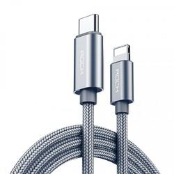 CÁP SẠC VÀ CHUYỂN DỮ LIỆU USB TYPE-C RA LIGHTNING ROCK - BH 12 THÁNG