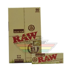 Combo 4 tệp Giấy cuốn Raw Organic 78mm, Rolling paper Raw