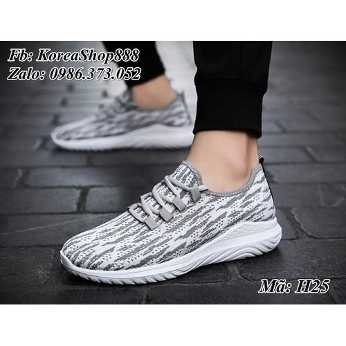 Giày Sneaker nam kiểu dáng Hàn Quốc Mã H25 - 5441004 , 9106166 , 15_9106166 , 150000 , Giay-Sneaker-nam-kieu-dang-Han-Quoc-Ma-H25-15_9106166 , sendo.vn , Giày Sneaker nam kiểu dáng Hàn Quốc Mã H25