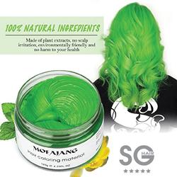 Thuốc nhuộm tóc tạm thời màu xanh rêu Mofajang Nhật Bản -sáp nhuộm tóc
