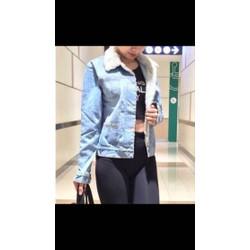 Áo khoác jean cổ lông