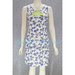 Đầm bầu mặc nhà cổ tròn - tôn thái