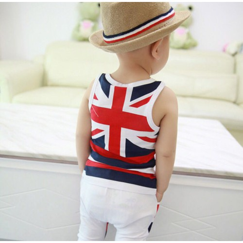 Set bộ bé trai cờ trắng đỏ