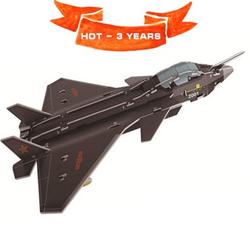 Mô hình ghép kute DIY Máy Bay J-20 - Phát triển trí tuệ cho bé